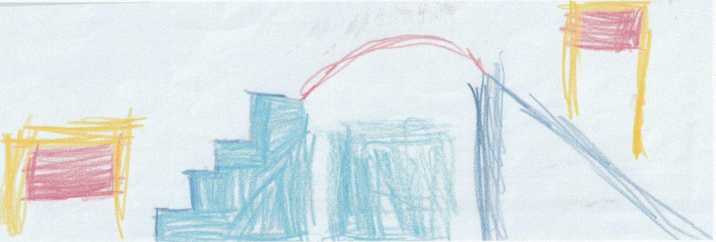 Turnraum gemalt von einem Kind